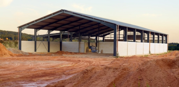 Image of Large Clear Span Agricultural building under construction