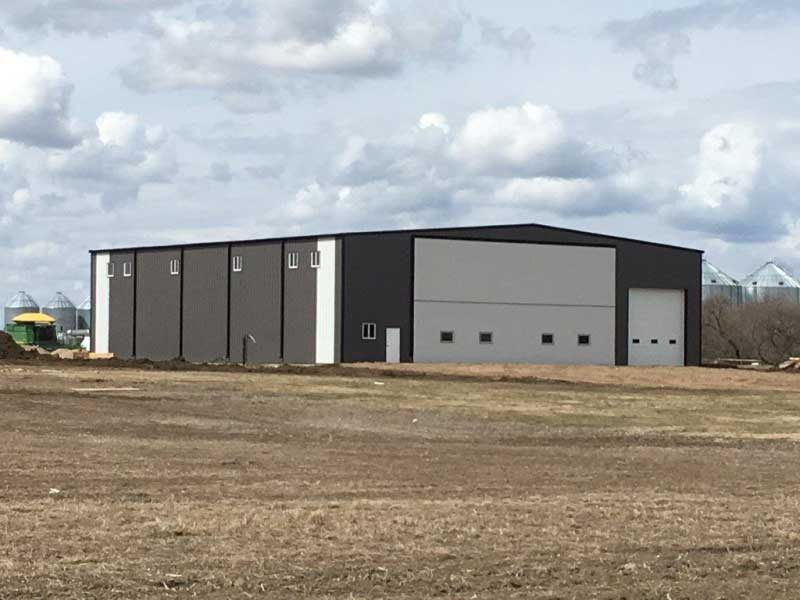 Prairie Fire Farms finished Clearspan steel building